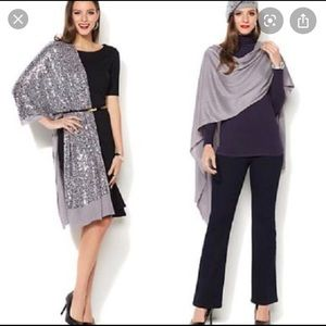 New with tags IMAN  soft knit wrap in gray